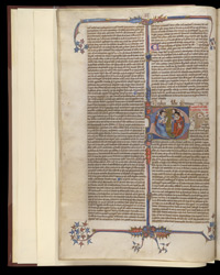 Historiated Initial, In Henry of Segusio's Commentary On Books I And II Of The Decretals Of Pope Gregory IX